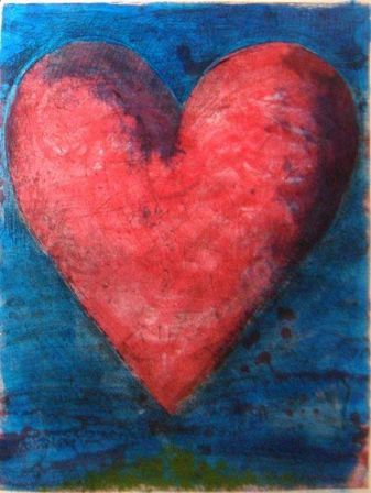 Jim Dine A heart on the Rue de Grenelle, 1981