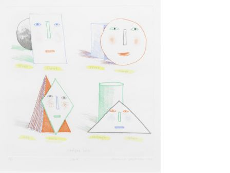 David Hockney Simplified faces, 1973