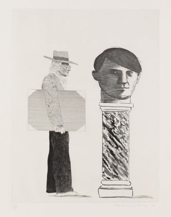 David Hockney The Student : Homage to Picasso, 1973