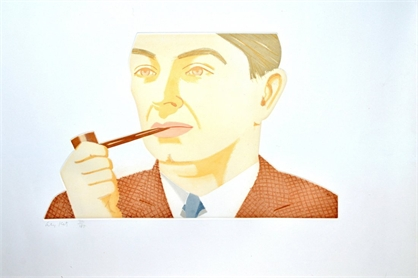 Alex Katz Man with pipe, 1984