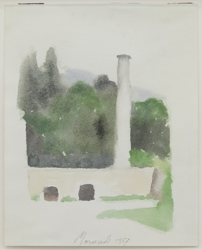 Giorgio Morandi - Paesaggio, 1957 ©Adagp, Paris, 2017, Collection Privée / Private Collection