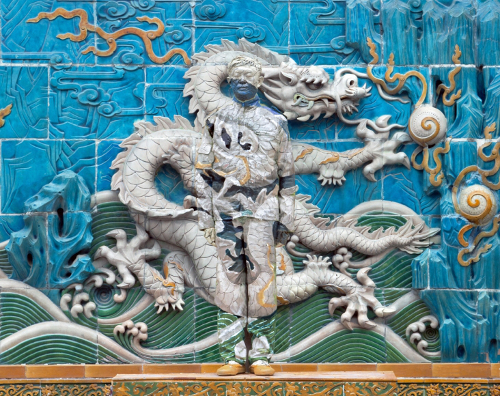 Liu Bolin - Dragon Series Panel 7 of 9, 2010