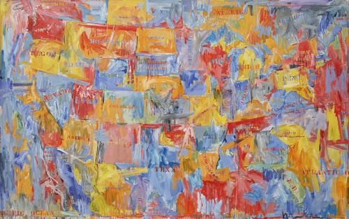 Jasper Johns Map 1961© 2018 Jasper Johns / Licensed by VAGA, New York