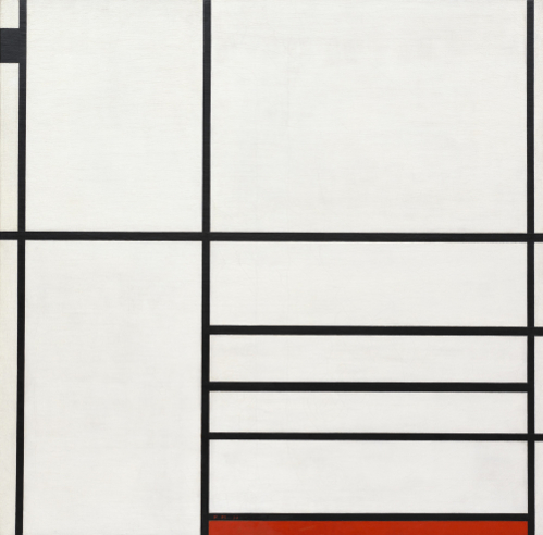 Piet Mondrian Composition in White, Black, and Red Paris 1936