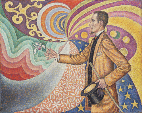 Paul Signac Opus 217. Against the Enamel of a Background Rhythmic with Beats and Angles, Tones, and Tints, Portrait of M. Félix Fénéon in 1890 1890 © 2018 Artists Rights Society (ARS), New York / ADAGP, Paris