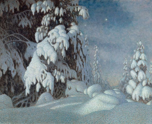 Gustav Fjæstad, Vintermånsken Winter Moonlight)