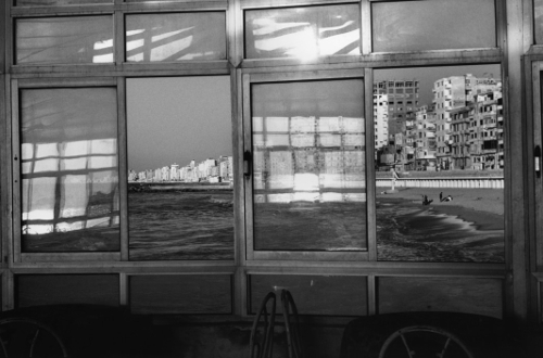 Raymond Depardon Window onto seafront. Alexandria, Egypt. 1995. © Raymond Depardon